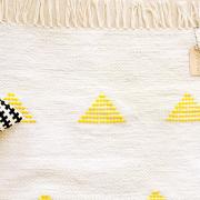 Tapis coton jaune