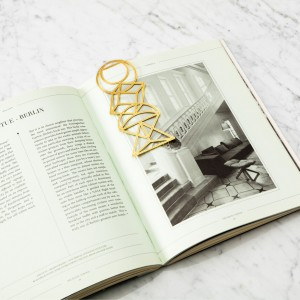 """Marque-pages """"Euclid"""" - Brass"""