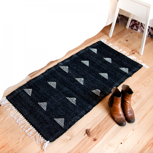 tapis triangles écru